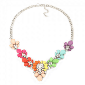 Colorful Flower Statement Necklace. click hear to shop more statement necklaces. Shop all musthave jewellery by aphrodite. Free worldwide shipping and gift.