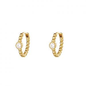 creole earrings, zirkonia, jewellery, nickel free