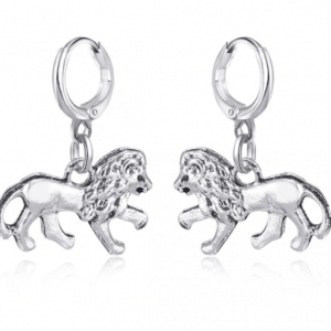 creole, earrings, lion, jewellery
