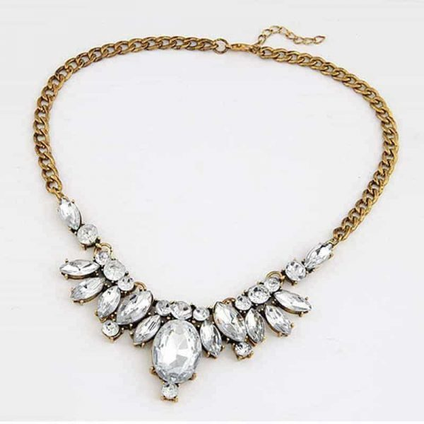 Statement Necklace With Crystals. Click here for more beautiful statement necklaces. Shop all musthave jewellery by Aphrodite. Free worldwide shipping.