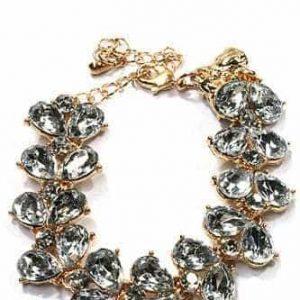 statement armband, kristallen, goud, sieraden, mooie