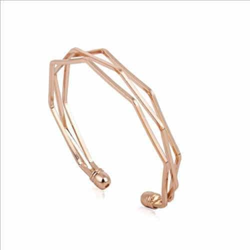 Layered Rose Gold Cuff Bracelet. Click here for more beautiful bracelets. Shop all musthave jewellery by Aphrodite. Free worldwide shipping and gift.