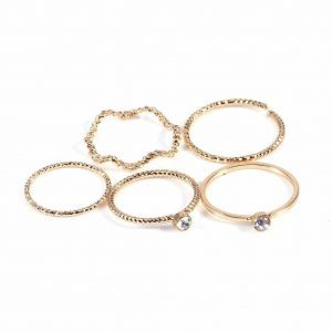 5 Pcs Gold Delicate Ring Set.Click hear to shop more beautiful rings. Shop all musthave jewellery by aphrodite. Free worldwide shipping and gift.