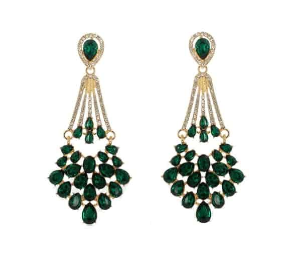 diamanten oorbellen, statement, sieraden, accessoires, groen, jewellery, groot