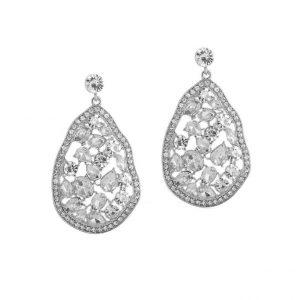 diamanten oorbellen, kristallen, zirkonia, steentjes, sieraden, dames, accessoires