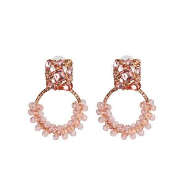 diamanten oorbellen, kristallen, zirkonia, roze, sieraden, accessoires, jewellery, kralen