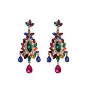 diamanten oorbellen, kristallen, zirkonia, sieraden, accessoires, gekleurde oorbellen, dames
