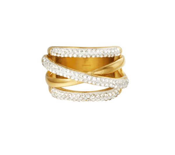 diamanten ring, stainless steel, rvs, zirkonia, roest vrij staal, goud