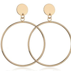 Drop Earrings, Circle, gold, jewellery, fashion