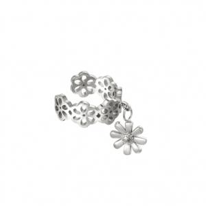 ear cuff, bloemen, stainless steel, roestvrij staal, sieraden, dames, nikkelvrij