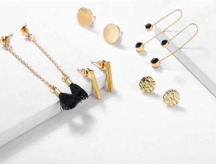 ed567d387 earrings set, gold, bar, stud earrings,