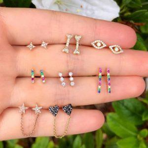 earrings set, colorful, jewellery, rainbow