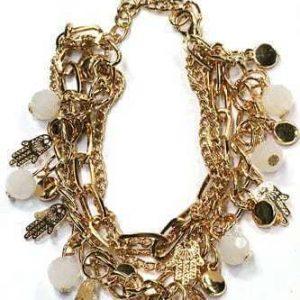 Fatima Hand Armband Met Witte Kralen.Klik hier voor meer leuke armbanden.Shop alle musthave sieraden bij aphrodite. Gratis verzending en cadeau.
