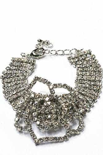 Statement Bracelet With Rhinestones. Click here for more beautiful bracelets. Shop all musthave jewellery by Aphrodite. Free worldwide shipping and gift.