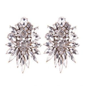 Glamour Statement Earrings With Crystals.Click here for more beautiful statement earrings. Shop all musthave jewellery by Aphrodite.Free worldwide shipping.