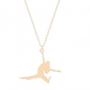 Gouden Ketting Meisje Die Springt. Klik hier voor meer mooie subtiele kettingen. Shop alle musthave sieraden bij Aphrodite. Gratis verzending en cadeau.
