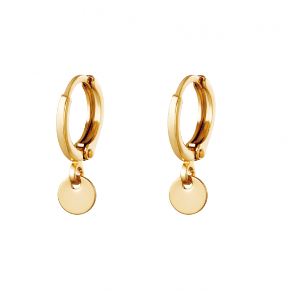 gold plated, earrings, jewellery, jewelry, women, coin