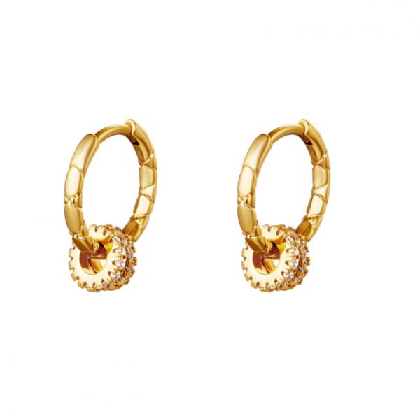 Gold Plated, earrings, Zirkonia, gold, silver, jewellery, jewelry, women