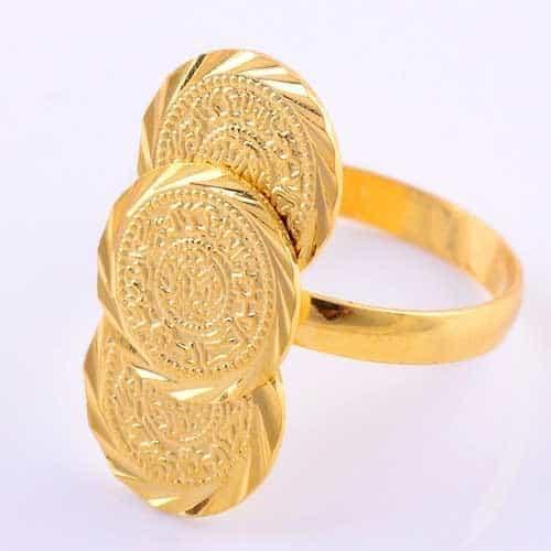 munten ring, coin, goud, verstelbaar,sieraden