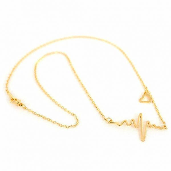 Golden Heartbeat Necklace. click hear to shop more delicate necklaces. Shop all musthave jewellery by aphrodite. Free worldwide shipping and gift.