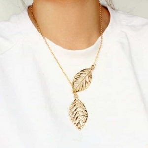 Gold Necklace With Leaves. click hear to shop more delicate necklaces. Shop all musthave jewellery by aphrodite. Free worldwide shipping and gift.