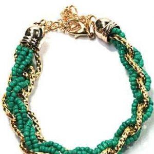 Green Braided Bracelet, jewellery, fashion, women