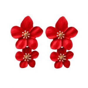 grote oorbellen, bloemen, statement oorbellen, sieraden, dames, zomer, lente