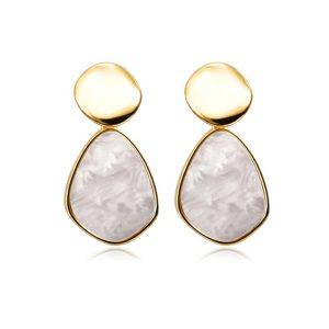 grote oorbellen, witte steen, statement oorbellen, dames, sieraden, accessoires