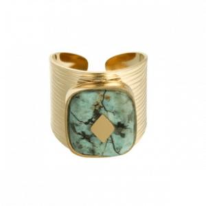 grote ring, steen, goud, verstelbaar, stainless steel, roestvrije staal, sieraden, sieraad, jewellery, jewelry