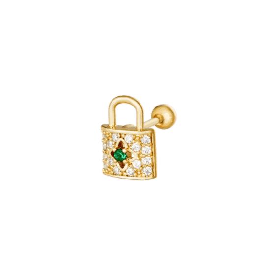 helix piercing, lock, zirkonia, nickel free, jewellery, jewelry, women