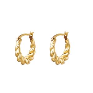 hippe oorbellen, goud, stainless steel, rvs, roest vrij staal, sieraden, dames, jewellery