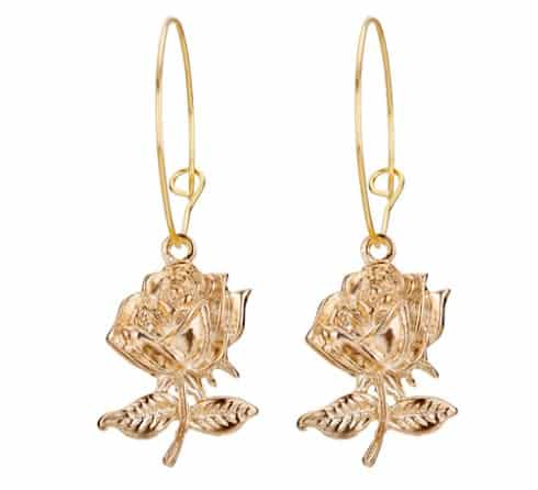 hoop earrings, rose, jewellery,gold
