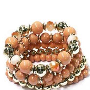 kralen armbanden set, beige, sieraden, fashion, musthave