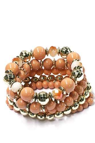 ICANDY 5 Pcs Sandy Brown Beaded Bracelet. Click here for more bracelets. Shop all musthave jewellery by Aphrodite. Free worldwide shipping and gift.