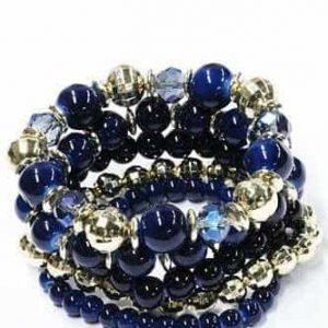 kralen, armbanden set, blauw, sieraden, musthave, sieraden, trendy