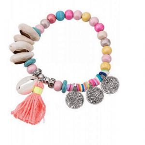 ICANDY Colorful Bracelet With Coins. Click here for more beautiful bracelets. Shop all musthave jewellery by Aphrodite. Free worldwide shipping and gift.
