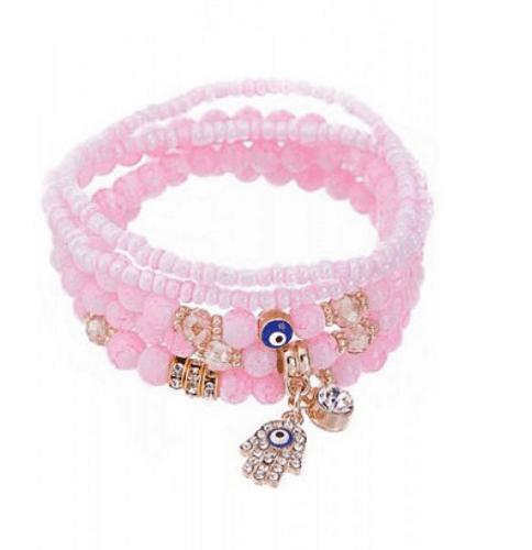 leuke hamsa hand armbandjes, roze