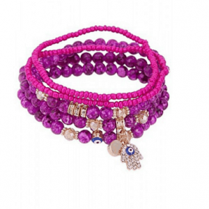 ICANDY 5Pcs Purple Evil Eye Bracelet Set.Click here for more bracelets sets. Shop all musthave jewellery by Aphrodite. Free worldwide shipping and gift.