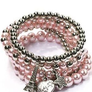 ICANDY Pink Beaded Bracelet With Charms. Click here for more bracelets. Shop all musthave jewellery by Aphrodite. Free worldwide shipping and gift.