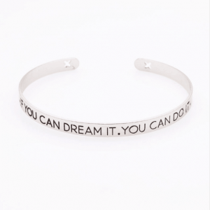 Cuff Bracelet ''If You Can Dream You Can Do It''. Click here for more cuff bracelets. Shop all musthave jewellery by Aphrodite. Free worldwide shipping.