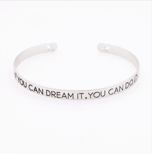 Cuff Armband ''If You Can Dream You Can Do It''.Klik hier voor meer leuke armbanden.Shop alle musthave sieraden bij aphrodite. Gratis verzending en cadeau.