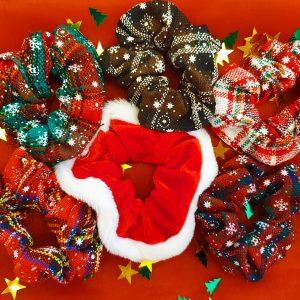 kerst, scrunchie set, christmas, haaraccessoires, accessoires