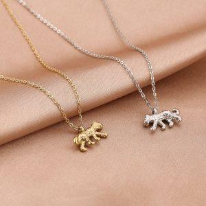 ketting met hanger, luipaard, panter, sieraden, dames, accessoires, stainless steel, roestvrij staal, nikkelvrij