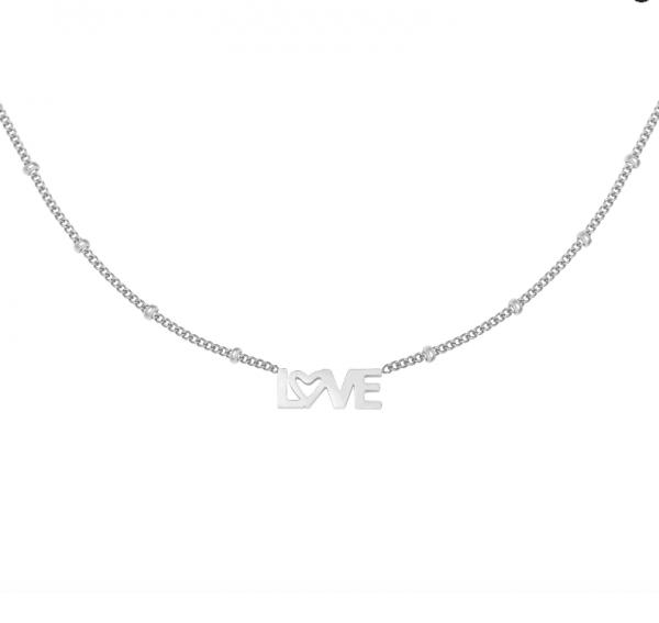 ketting, love letters, zilver, goud, sieraden, sieraad, jewellery, jewelry, dames , hanger, nikkel vrij, stainless steel