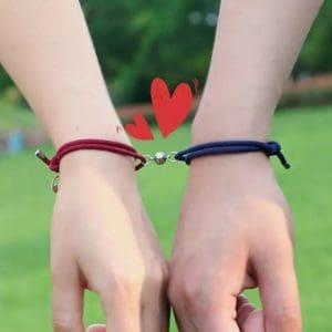koppel armbanden, magneet, relatie, stelletjes, vriend, vriendin, man, vrouw