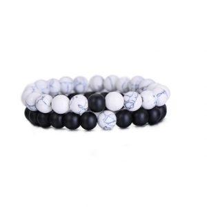 koppel armbanden, zwart, wit, kralen, relatie, vriend, vriendin, matching