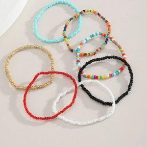 kralen armbanden set, sieraden, dames, accessoires, gekleurde armbandjes, dames