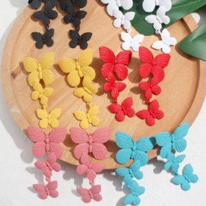 lange oorbellen, vlinder, statement oorbellen, groot, sieraden, dames, accessoires, zomer