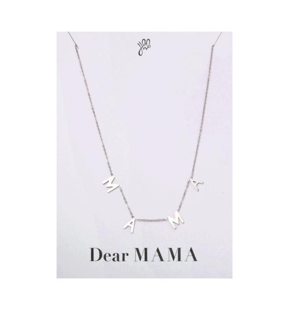 mama ketting, subtiel, fijn, minimalistisch, moeder, cadeau, sieraden, sieraad, dames