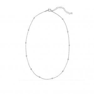 minimalistische ketting, bolletjes, stainless steel, sieraden